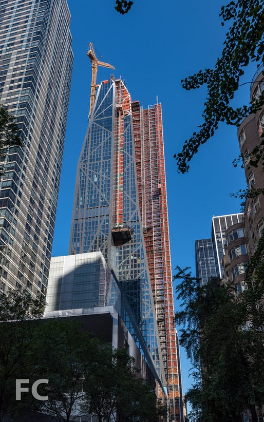 Jean Nouvel's 53W53 tower in its current state. Photo via fieldcondition.com