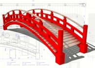 Aluminum Garden Bridge shop drawings set