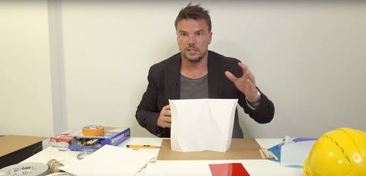Bjarke Ingels scores! And crinkles. And explicates. Screenshot: YouTube