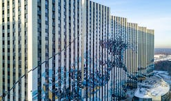 Moscow apartment buildings come to life with facade featuring The Great Wave off Kanagawa