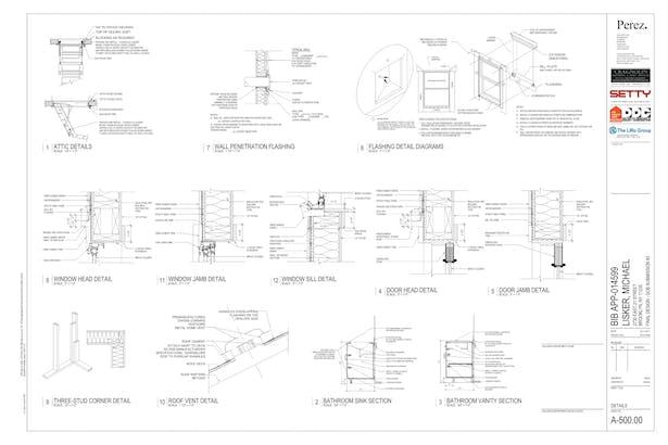 Selected Construction Document sheets (Revit) | Daniel Horn