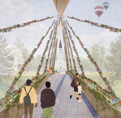 "BB STUDENT PRIZE + BB GREEN PRIZE - ""Gauja Park Gateway"". UNIVERSITY MACKINTOSH SCHOOL OF ARCHITECTURE - PROJECT AUTHOR: Inness Yeoman | United Kingdom."