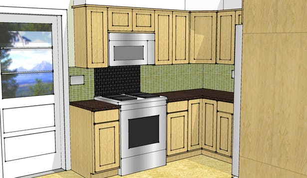 Sample SketchUp model - not photorealistic but good enough to make some decisions.
