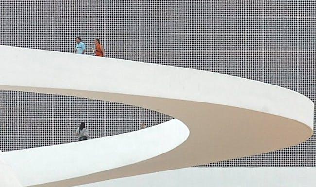 Cultural Complex of the Republic, Brasília, exterior ramp (Photo: Agência Brasil)