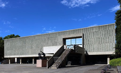 Le Corbusier's National Museum of Western Art in Tokyo, the only building he designed in all of East Asia. Image: Kakidai/Wiki Commons.