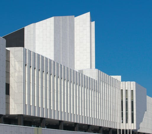 Finlandia Hall in Helsinki, designed by Alvar Aalto and built from 1967 to 1971. Image: Wikimedia Commons user Thermos.