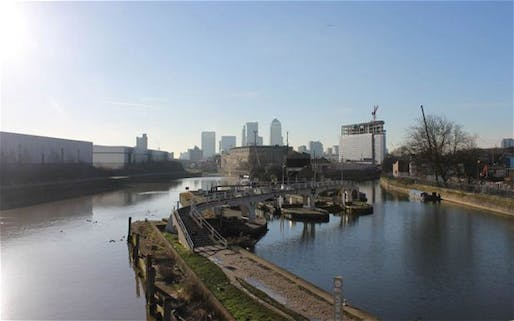 Stepping out: the path roughly follows the Meridian from the O2 Arena, past Canary Wharf, above, to the Olympic Park in Stratford (The Telegraph; Photo: Handout)