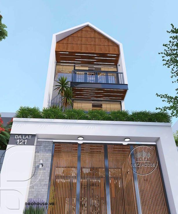 Thiết kế nhà phố mặt tiền 5m. Ảnh 1