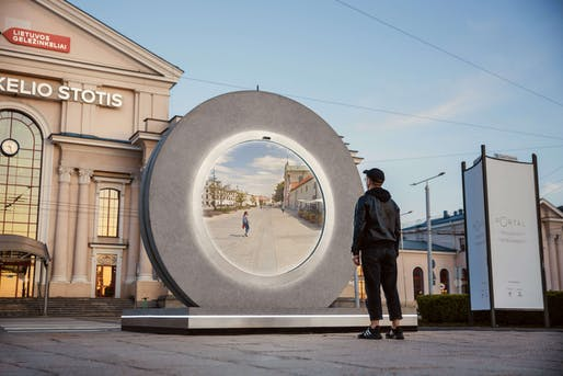 PORTALS is allowing people in Vilnius, Lithuania and Lublin, Poland to connect in real time. Photo: Go Vilnius