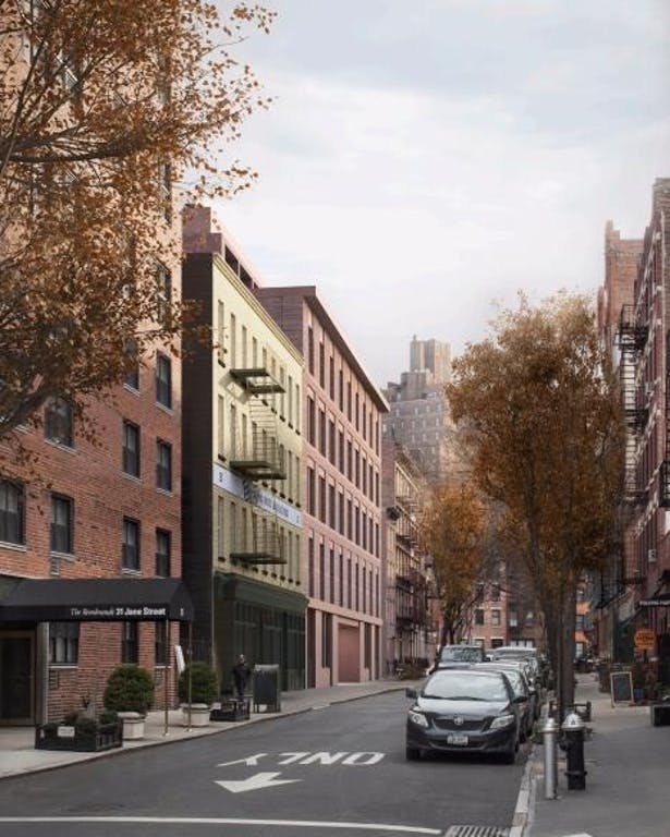 Rendering looking east along Jane street