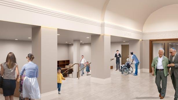 Entrance lobby rendering