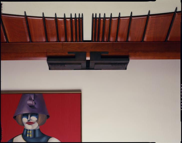 Palevsky Residence, detail of living room ceiling. Courtesy of Coy Howard.