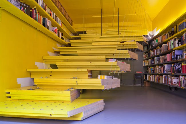 Current situation at Van Alen Books, New York City's Architecture and Design Bookstore. Photo: Danny Bright