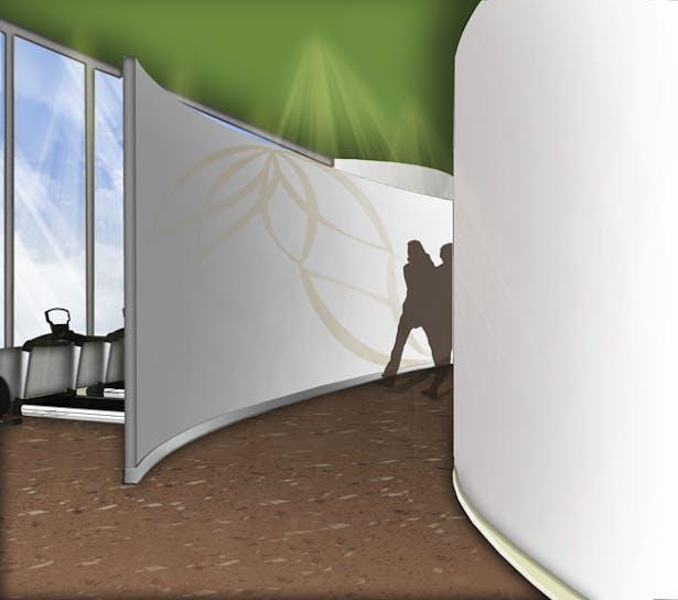 Evolve Fitness Center Hallway View: Google SketchUp, Adobe Photoshop