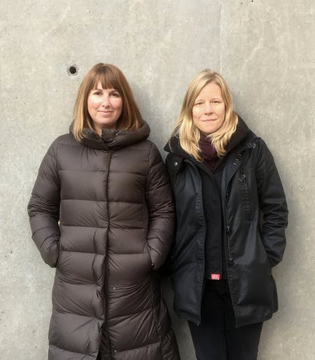 Kelly Bair (L) and Kristy Balliet (R) of BairBalliet. Image © BairBalliet