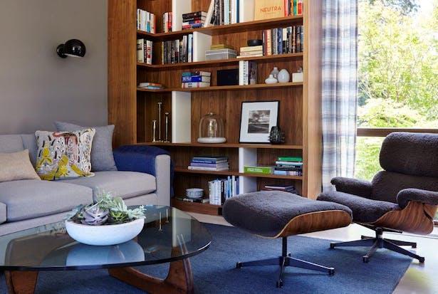 Clear walnut library. Joshua McHugh Photography