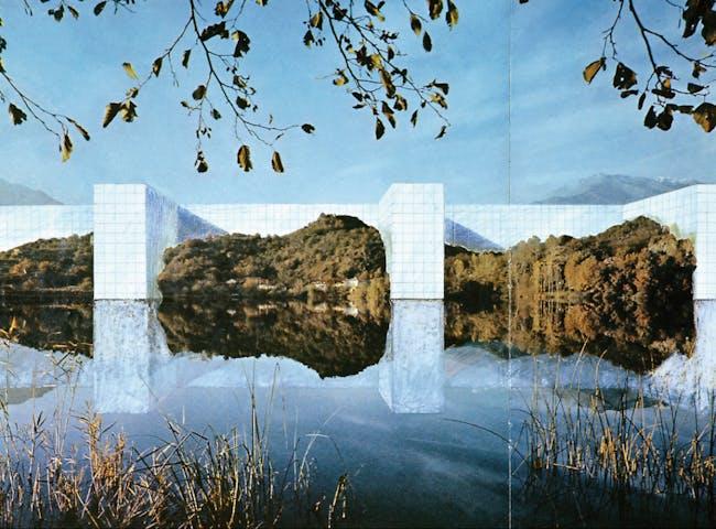 Superstudio, ''The Continuous Monument (On the River),'' 1969/photo: Archive Cristiano Toraldo Di Francia via the New York Times