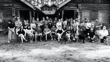 Summer Retreat Group Photo. All images courtesy of Skylab Architecture.