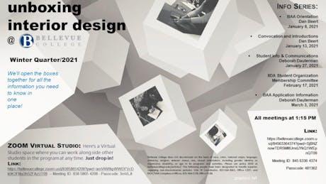 Bellevue College Interior Design Program -- ZOOM Presentation Series for Students -- 'unboxing the interior design program'