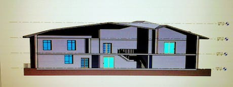 Cross Section of 2- Story BUILDING