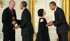 Tod Williams and Billie Tsien presented with National Medal of Arts by President Obama