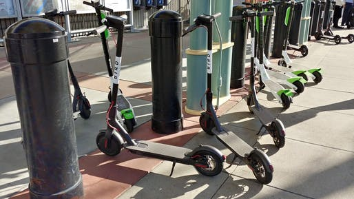Bird electric scooters. Image: CNET.