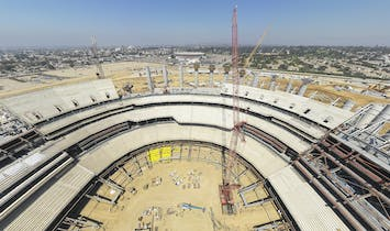 Construction update on L.A.'s new gigantic football stadium