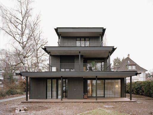 felippi wyssen architekten - Gatternweg apartment building. Riehen, Switzerland. Photo: Rasmus Norlander.
