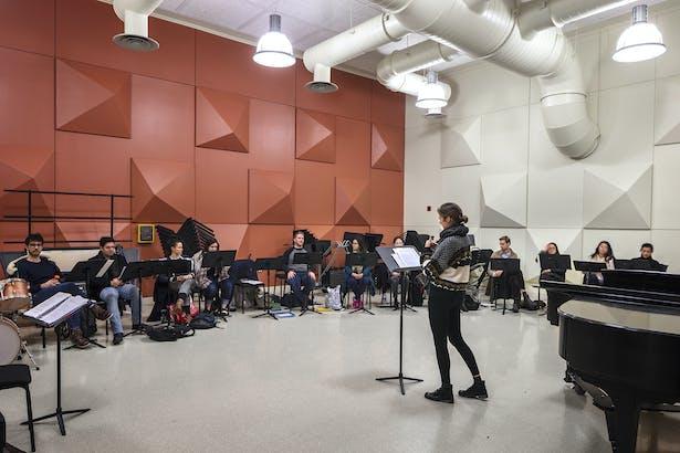 The Instrument Rehearsal Hall. Photo: Richard Barnes