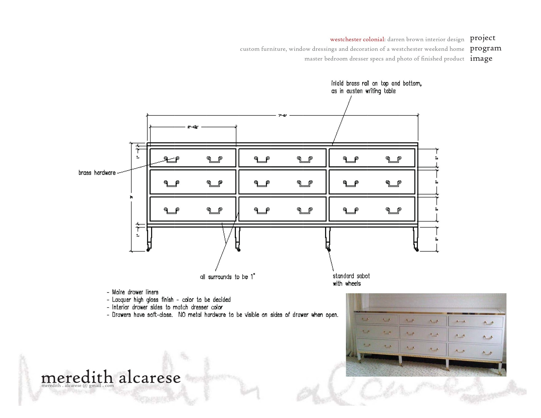Drawings   Details And Furniture Specs