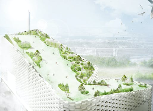 It's happening: the BIG-designed Copenhagen Waste-to-Energy Plant is getting its proposed rooftop park, designed by SLA Landscape Architects. Image: SLA.