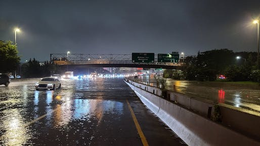 Flash flooding from Post-Tropical Storm Ida on the Long Island Expressway in New York City. Image courtesy of Wikimedia Commons user Tommy Gao. (CC BY-SA 4.0)