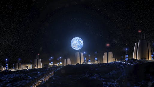 "Remote enough? Rendering of the <a href=""https://archinect.com/news/article/150131584/som-s-new-moon-village-concept-brings-us-one-giant-step-closer-to-human-settlement-on-the-lunar-surface"">Moon Village</a> project by Skidmore, Owings, and Merrill (SOM) in partnership with the European Space Agency (ESA) and the Massachusetts Institute of Technology (MIT). SOM is currently hiring — details below. Image © SOM/Slashcube GmbH."