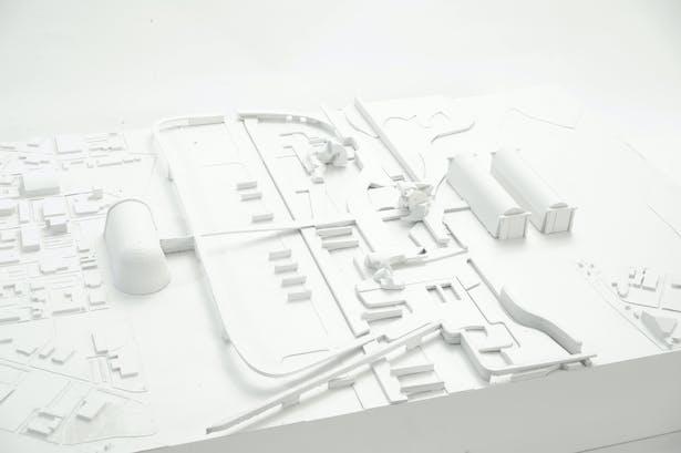 The Public City - arts center chunk east elevation