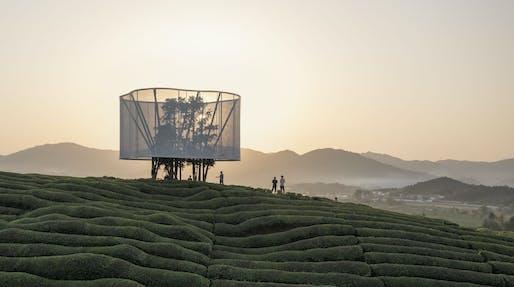 """""""Light"""" by Ma Yansong as part of """"Art at Fuliang 2021"""". Photo: Tian Fangfang"""