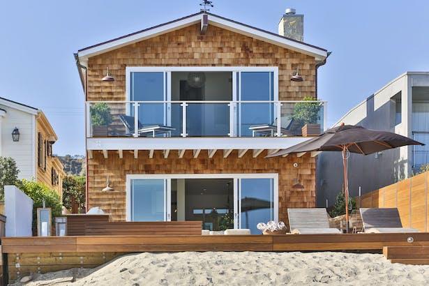 Beachfront exterior