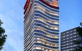 Images of Odile Decq's first residential building in Barcelona are unveiled