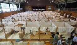 Shigeru Ban builds temporary shelter for flooding victims in Japan