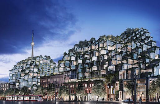 Rendering of BIG's under-construction KING Toronto complex. Image courtesy of Westbank.