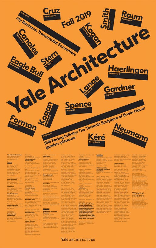 Poster courtesy of Yale School of Architecture.