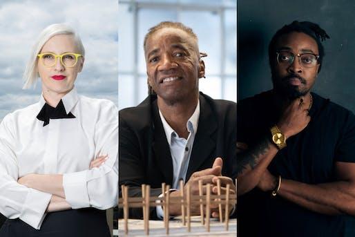 (L-R) Jennifer Bonner, Walter Hood, and Olalekan Jeyifous