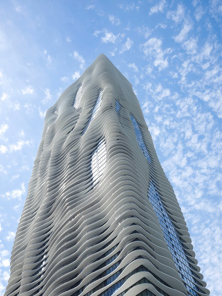 Aqua Tower. Photo by Steve Hall © Hedrich Blessing. Courtesy Studio Gang.