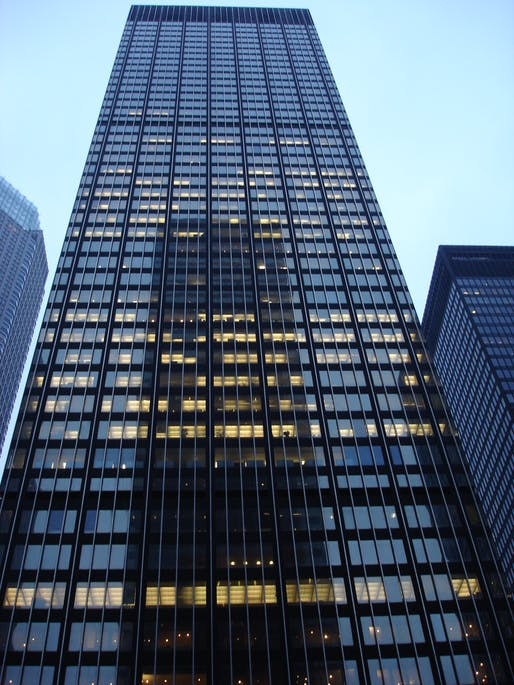 Dead tower walking: the current JPMorgan Chase Tower at 270 Park Ave will likely become the word's tallest intentionally demolished building next year. Image: Wikipedia.