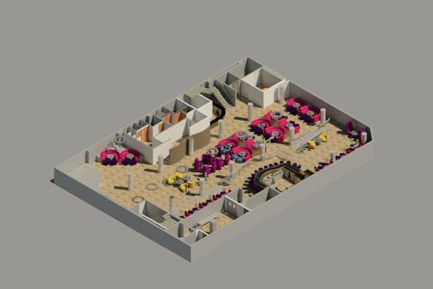Basement/Bar Level Floor Plan