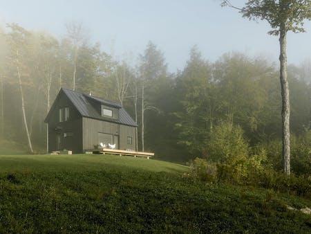 Exterior of Little Black House by Elizabeth Herrmann Architecture + Design.