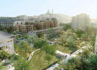 SLA and Biecher Architectes to transform old central railway site into new carbon neutral and nature-based 'ecosystem neighborhood' in Paris