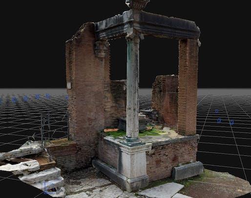 Foro Romano - Vestali's Home _Digital reconstruction
