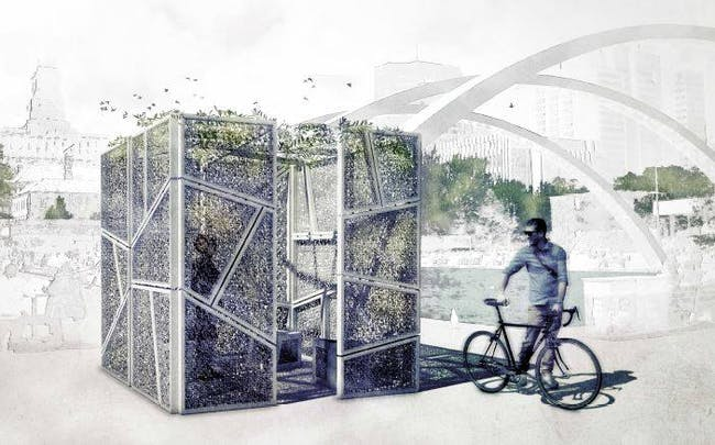 Desert Veil by Gianluca Pelizzi, one of the winning proposals for Sukkahville 2015.