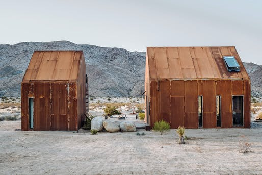 "<a href=""https://archinect.com/cohesion/project/folly-cabin"">Folly Cabin</a> in Joshua Tree, CA by <a href=""https://archinect.com/cohesion"">Cohesion</a>"