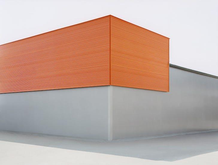 'sachliches': Grau-orange, 2008, C-Print, 100 x 133 cm © Josef Schulz